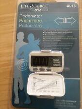 New LifeSource Xl-15 Digital Pedometer Step Distance Calorie Counter 12/24 hr