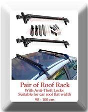 Aluminum CarTop Luggage Roof Rack Cross Bar Carrier Adjustable 90-100cm W/Locks