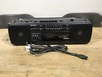 Sony CFS-212L FM AM Radio Stereo Cassette Tape Player Recorder Boombox Black