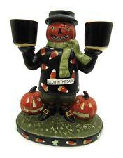 Yankee Candle Halloween Pumpkin and Glow in Dark Jack-o-Lantern Candle Holder
