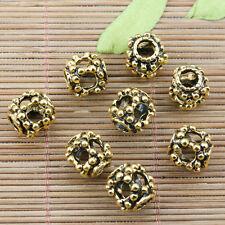 10pcs dark gold color studded hollow loose bead fit European bracelet EF2294
