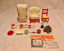 Retro Renwal Dollhouse12 Pcs Lot- Kitchen, & Other Retro Miniatures