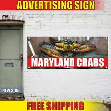 MARYLAND CRABS Advertising Banner Vinyl Mesh Decal Sign FRESH SEAFOOD FAIR LOCAL