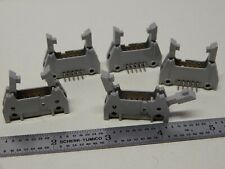 3m 3446 Right Angle Pcb Mount Male Header Qty 5 Nos With Clamp Arms 10 Pin