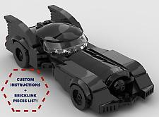 Batman Batmobile 1989 CUSTOM INSTRUCTIONS ONLY for LEGO Bricks (Batman)