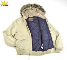 Ecco piel con capucha para mujer WOOLRICH Aislado Invierno Chaqueta Parka Bombardero W Talla S UK 8