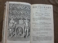 A. BOYER. THE ROYAL DICTIONARY ABRIDGED. FRENCH AND ENGLISH. LONDON. 1747
