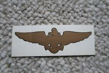 "US NAVAL AVIATOR WING NAVY 3ea DECALS 4.25""1 1/8"" MYLAR"