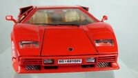 Burago Lamborghini Countach 1988 1:18 Red LP 5000 Quattrovalvole Toy Model Car