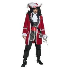 Smiffy's Pirate Captain Hook Red Jacket Mens Medium Halloween Costume 36174