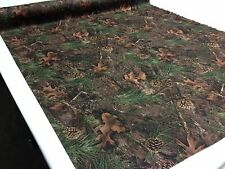 "CAMO MIXED PINE TRUE TIMBER MOISTURE WICKING FABRIC 58""W 4-WAY STRETCH KNIT"