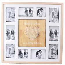 Large String Heart Design 10 Multi Photo Holder Home Is Where Our Story Begins