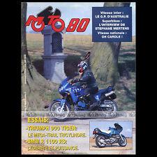MOTO 80 N°325 ★ TRIUMPH 900 TIGER ★ BMW R 1100 RS ★ STEPHANE MERTENS 1993