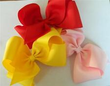 """3 Extra Lg Boutique Bows,pick fav colors,2 1/4"""" wide ribbonTexas style Hair Clip"""