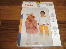 BURDA-BABY Schnittmuster 9942              2x JACKE mit KAPUZE             62-86