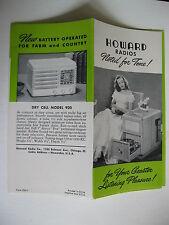 VINTAGE 1940's HOWARD RADIOS BROCHURE