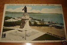 QUEBEC CANADA St.Lawrence River Champlain's Monument PC