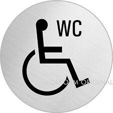 "OFFORM Türschild l Toilettenschild l ""Behinderten WC"" l Ø 75 mm l Nr. 8477"