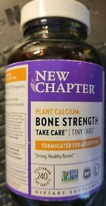New Chapter Bone Strength Whole Food Calcium Supplement 240 Tiny Tablets LQQK