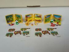 RAR 3 sehr seltene Mini M&M Figuren Western Dioramen + Beipackzettel Konvolut