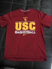Nike Mens Usc Basketball Dri Fit T Shirt Red M