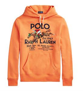 Polo Ralph Lauren Riding Academy Equestrian Hoodie XL Orange Crest Stadium
