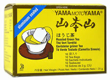 4 pack of YamaMotoYama Aluminium Sealed Hojicha Roasted Green Tea 48g 16 teabags
