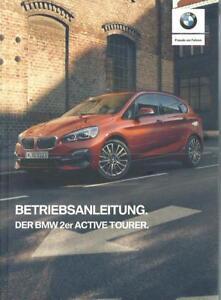 BMW 2er ACTIVE TOURER F45 Betriebsanleitung 2020 Bedienungsanleitung Bordbuch BA