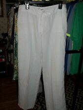Slacks, White 100% Linnen Slacks for Woman T/ Bahama.  size 8
