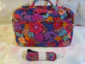 VERA BRADLEY Weekender Travel College Bag Luggage Large Roomy NEW FLORAL FIESTA