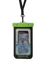 """Seawag 5,7"""" wasserdichte Handyhülle, schwarz-grün, Smartphone-Tasche NEU"""