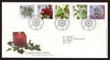 29045) UK - GREAT BRITAIN 2002 FDC Christmas 5v s-a