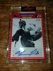 Vladislav Tretiak Auto Pro Set Memories 2021 /20 B&W Parallel Goalie Card Rare