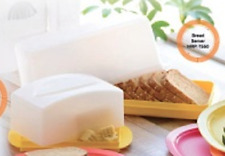 Tupperware Bread Keeper or Bagels & Cheese Storage Container Yellow Seal New