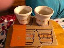 New Longaberger Candy Corn Halloween 2-Pack Votive Cups Candle Holders