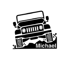 Jeep & Name Decal for Yeti, Car, Truck, Tumbler, Travel mug - Off road Boy gift