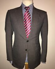 GIEVES & HAWKES NO 1 SAVILE ROW LONDON LUXURY SUIT STRIPED ITALIAN MADE 38x32