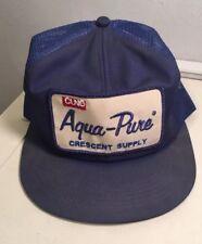Aqua Pure Trucker Hat Patch SnapBack Vintage