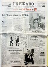 LE FIGARO 26 Avril 1997: FRANCE GALL_DALIDA_NICK CAVE_EDDIE IRVINE_F SANTORO