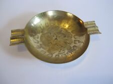 Schöner orientalischer Messing Bronze Aschenbecher Orient mit Ziselierungen