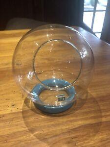 Glass Terrarium With Ceramic Stand