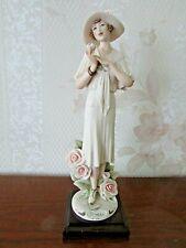 "G. Armani Figure Figurine Statue Sculpture ""Rose"", Lady, Flowers, Italy"