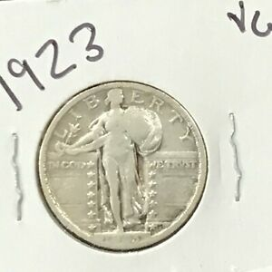 1923 Standing Liberty Silver Quarter  E8854