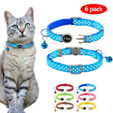6pcs Small Dog Kitten Cat Breakaway Collar Safety Quick Release for Pet Puppy