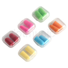 6 colors Soft Ear Plugs Soundproof Earplugs Noise Reduction For Sleep Game work