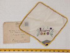 Vintage Wwii Era World War 2 Philippines Handkerchief Embroidered jds