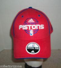 NEW - NBA - DETROIT PISTONS - ADJUSTABLE HAT - ADIDAS - RED