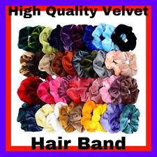Multi Pack Hair Scrunchies Velvet Scrunchy Bobbles Elastic Hair Bands Holder UK