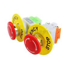 2 Pcs X Red Mushroom Emergency Stop Push Button Switch No Nc 22mm Cnc Gecko