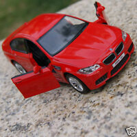 5 Inch BMW M5 Model Cars Toy Car Gift Alloy Diecast With Pull Back Function Red